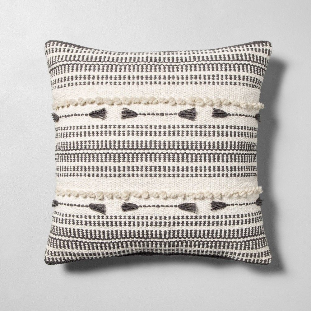 Lumbar Pillow Oversized Stripe Gray