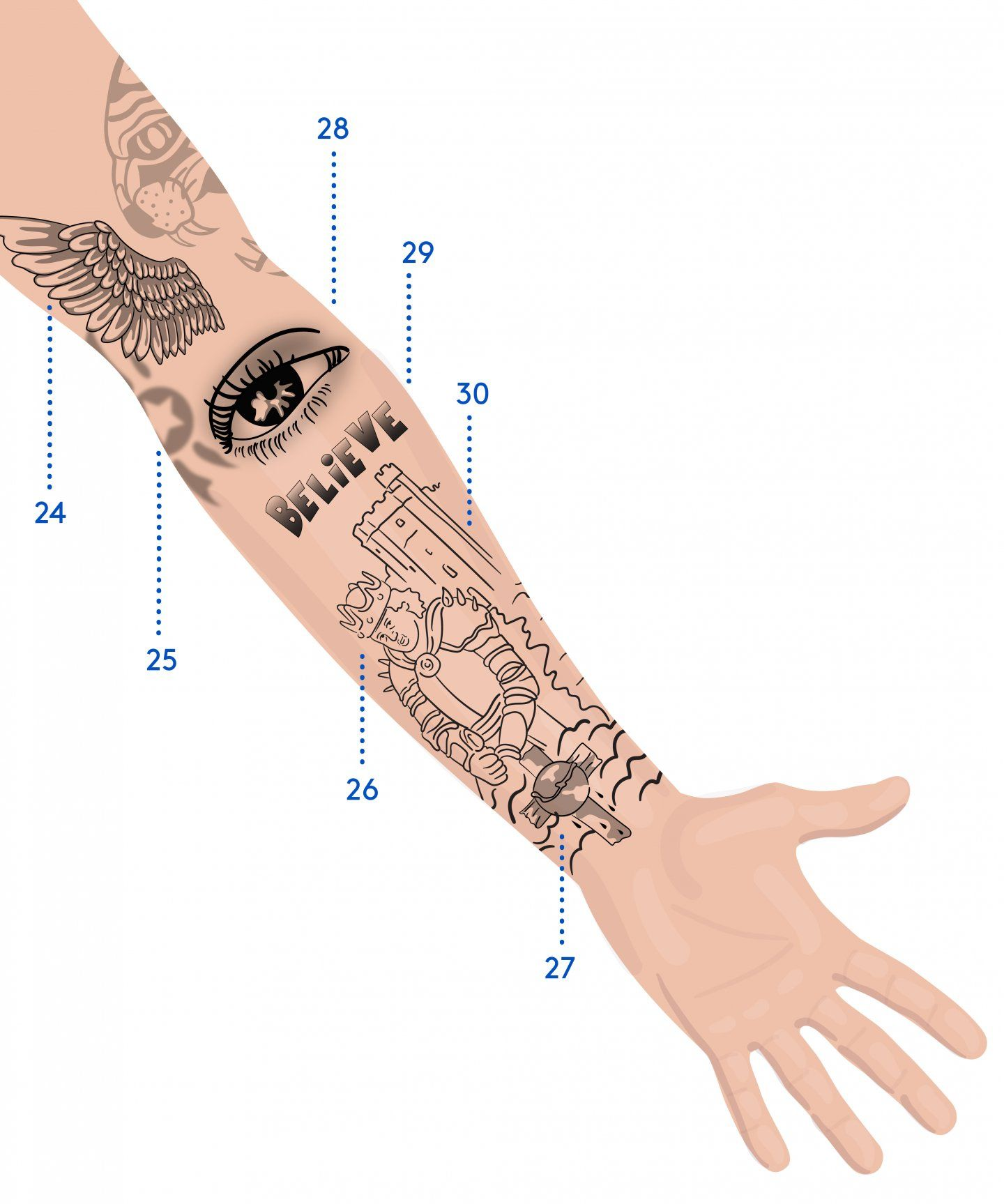 We Mapped Out Justin Bieber S Massive Tattoo Collection Justin Bieber Tattoos Tattoos Tattoo Designs Men