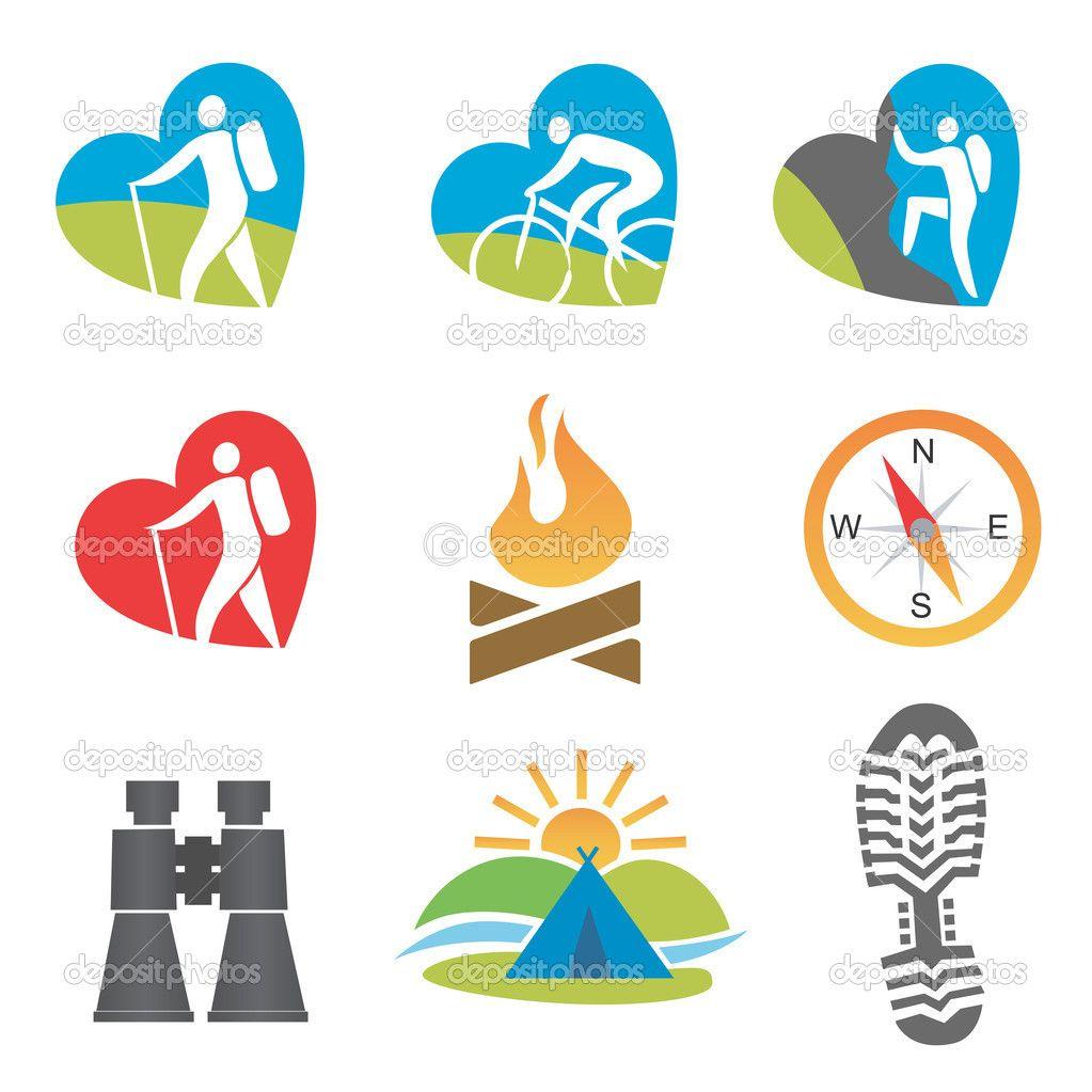 Outdoor activity icon set — Stock Vector © chachar #