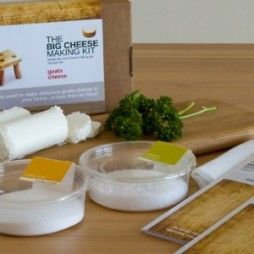 Goat's Cheese Kit by The Big Cheese Making Kit. If your man is a bit of a foodie than this may be the present for him: Goat's Cheese Kit by The Big Cheese Making Kit. Each kit makes 10 batches! Making your own Goat's Cheese is so incredibly simple with this Kit. Fresh soft and creamy or rich and crumbly goat's cheese is under 2 hours away. The Big Cheese Company kits are among our top sellers. And we know why! Click pic to buy.