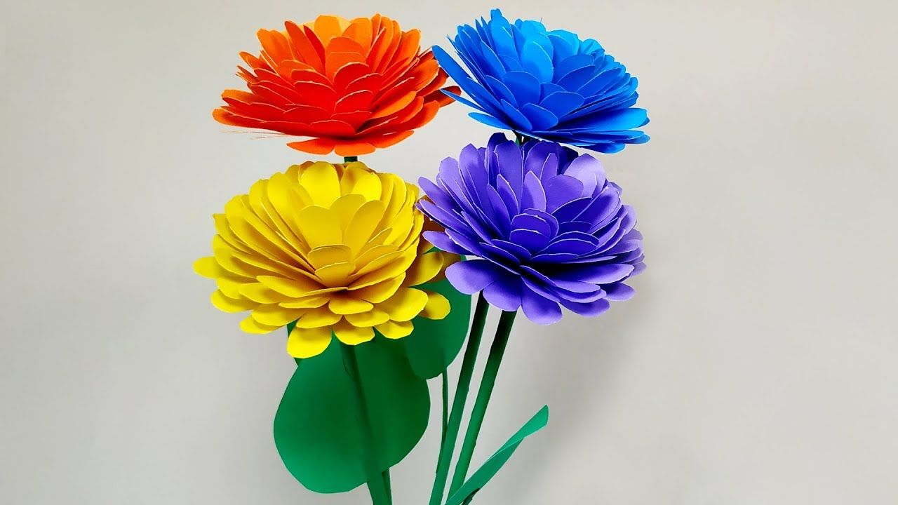Easy Diy Beautiful Paper Flower Making Craft Idea Room