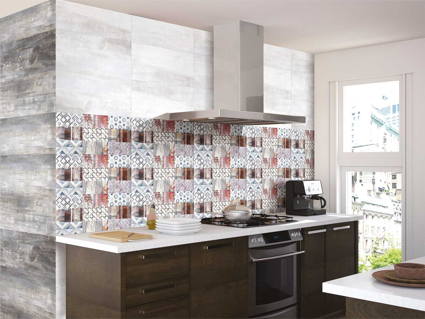 7+ Unique Metallic Tiles - Decortez  Kitchen tiles design