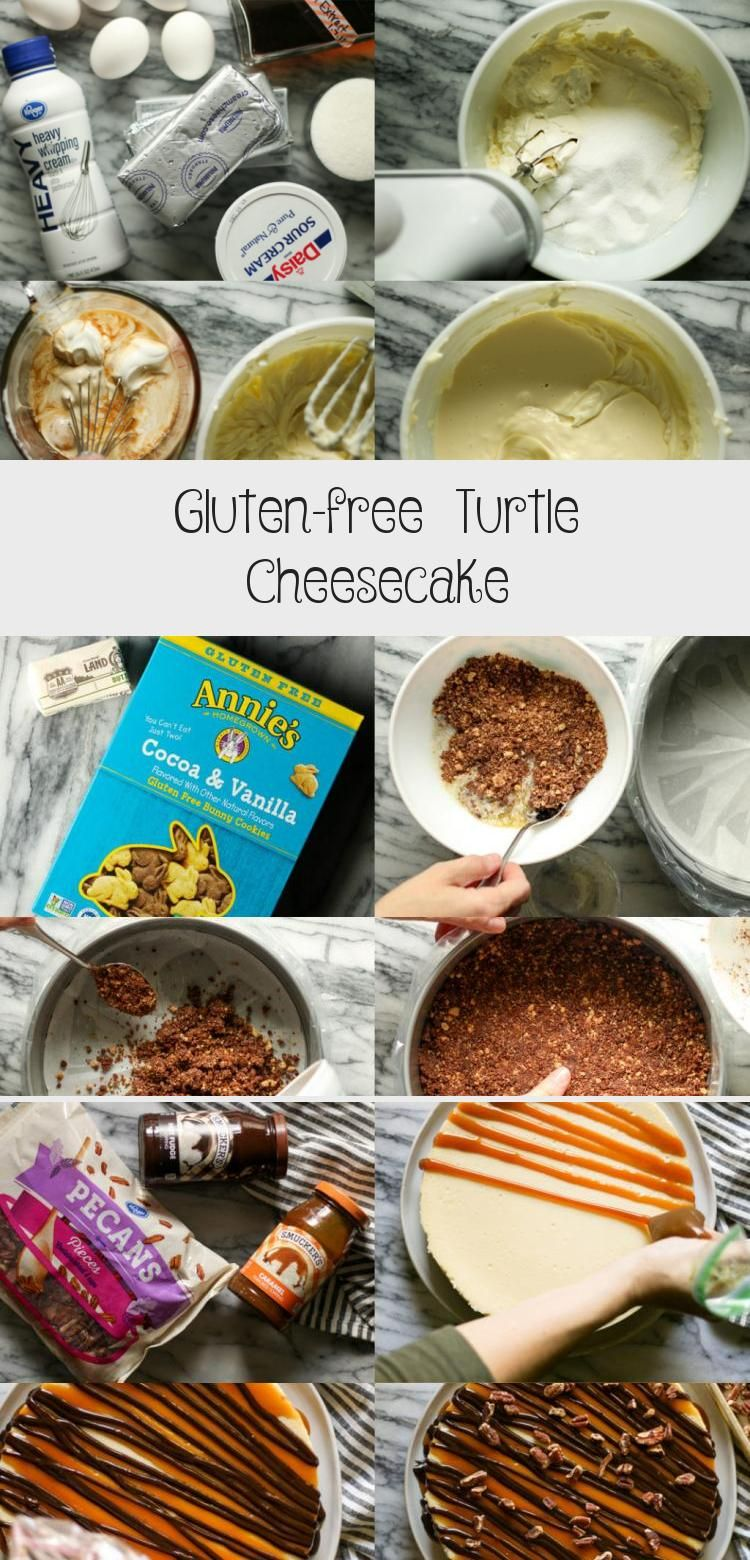 Gluten-free Turtle Cheesecake - Yumyum #turtlecheesecakerecipes