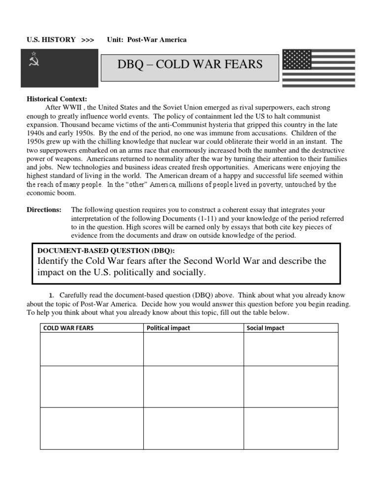 Cold War Reading Comprehension Worksheet In 2020 Reading Comprehension Worksheets Reading Comprehension Comprehension Worksheets