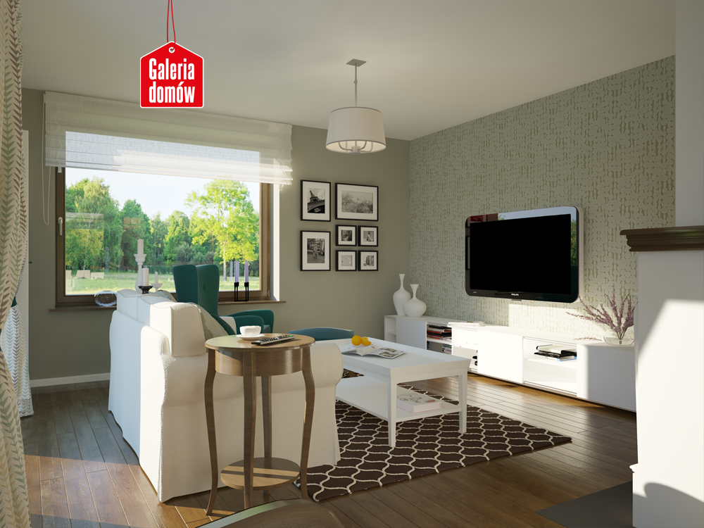 Wnętrze domu przy Przyjemnej 5  salon  Pinterest -> Kuchnia Kaflowa Domu