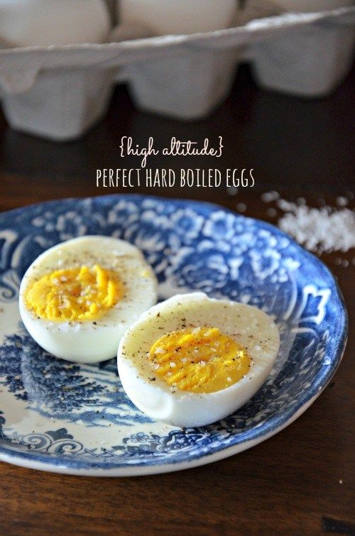 High Altitude Hard Boiled Eggs