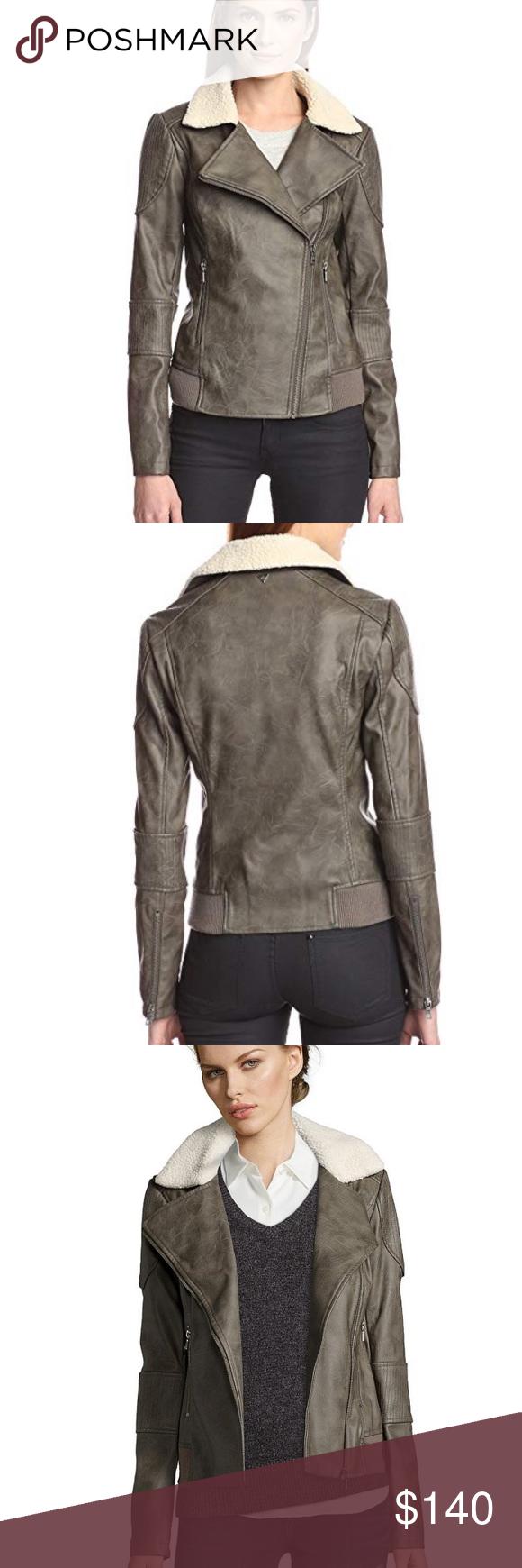 sam edelman // faux leather sherpa moto jacket NWT