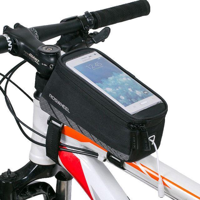 Mountain Bike Front Frame Bag Road Bike Riding Bag Phone Touch Screen Holder