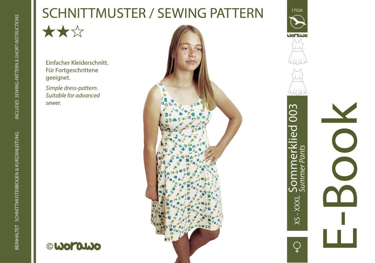 E-Book Sommerkleid 003 Damen XS-XXXL (mit Bildern ...