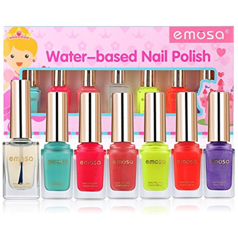 Emosa Nail Polish NonToxic Water Based Peelable Natural