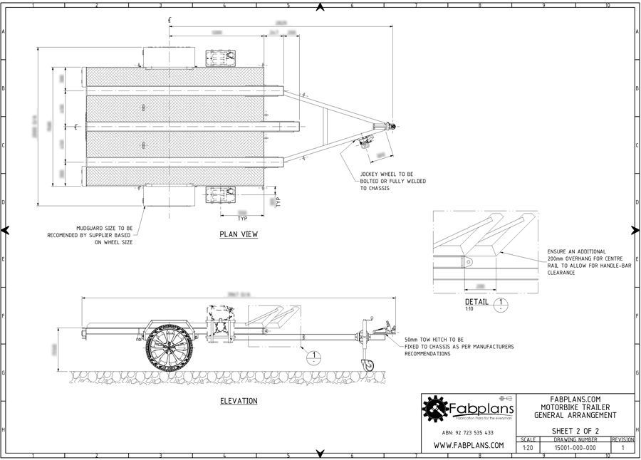 Motorcycle Trailer Plans 3 Bike Design 7 X5 Tray Size 16