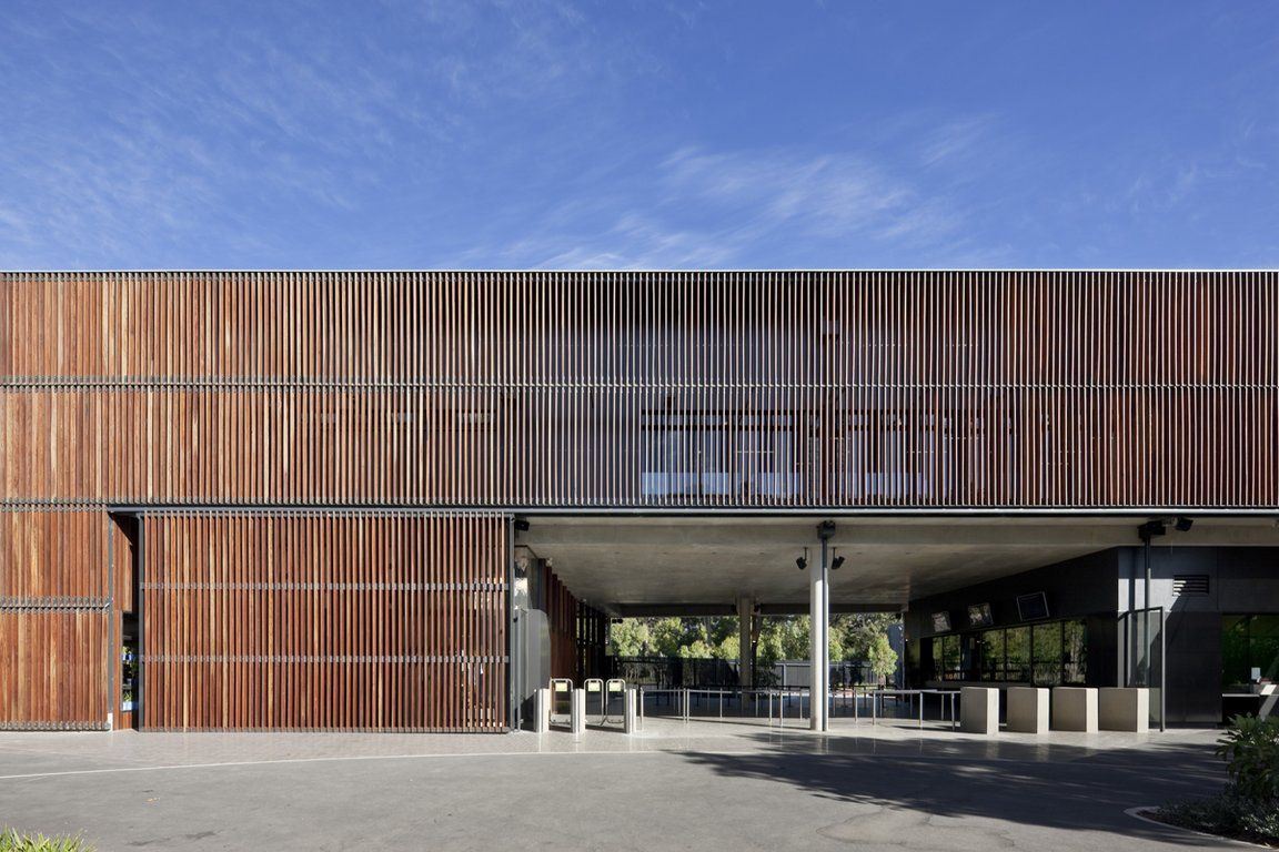 Timber screen on north facade fence pinterest for Adelaide residential architects