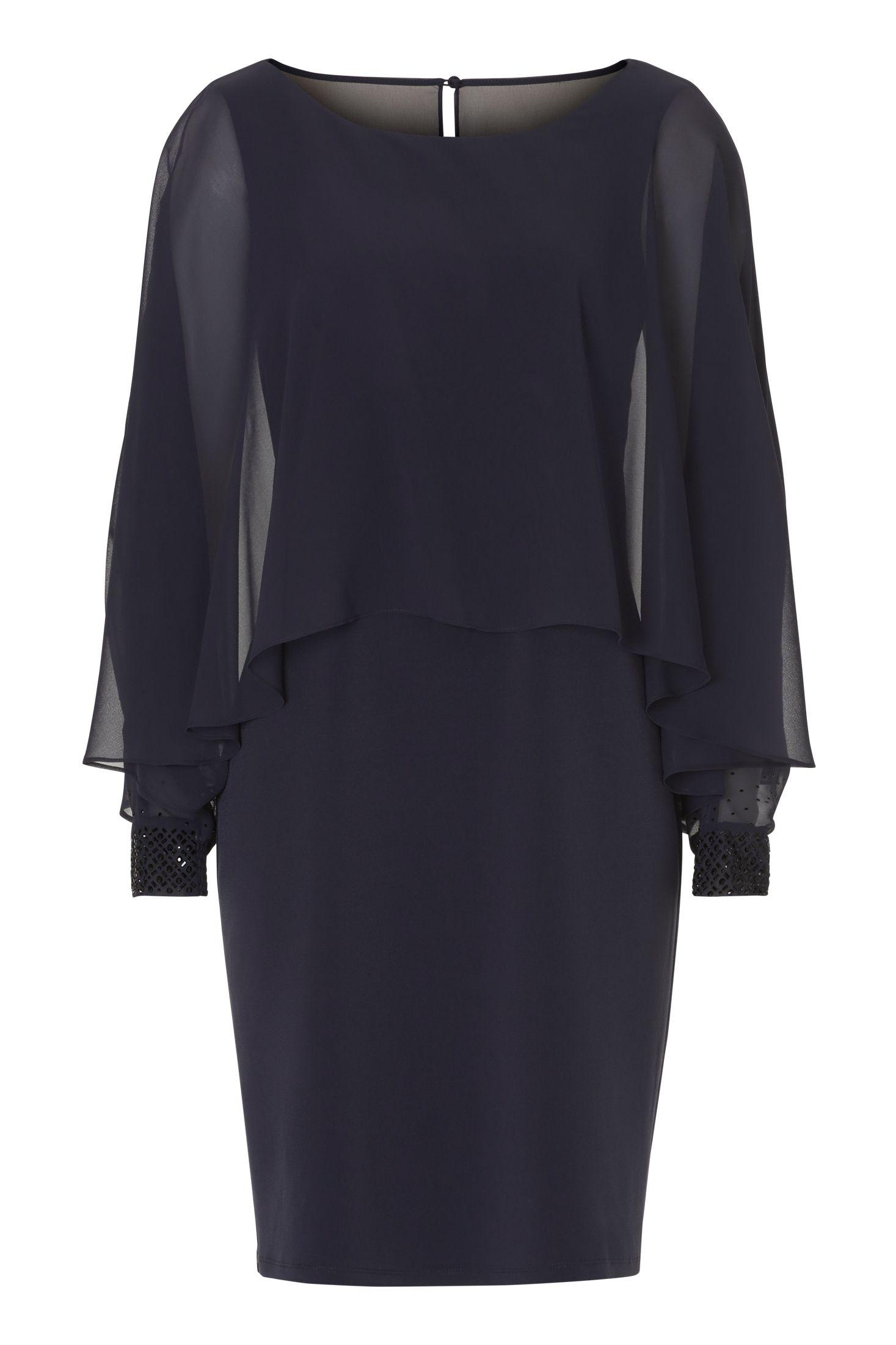 Kleid mit Cape und Ärmel in Nachtblau von Vera Mont  Mode