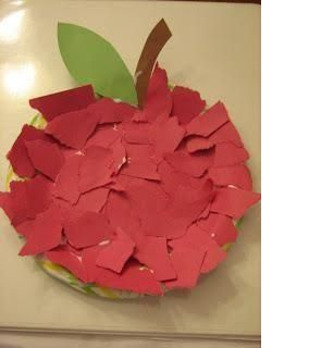 bricolage pomme pommes pinterest apples paper plate crafts and activities. Black Bedroom Furniture Sets. Home Design Ideas