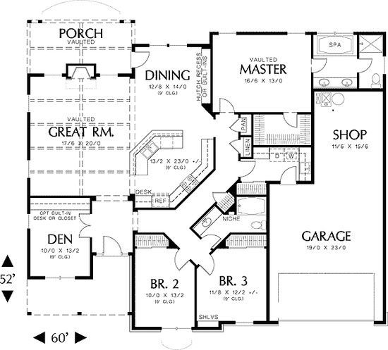 single story house floor plans | Plan W69022AM: Northwest, Cottage, Photo Gallery House Plans Home