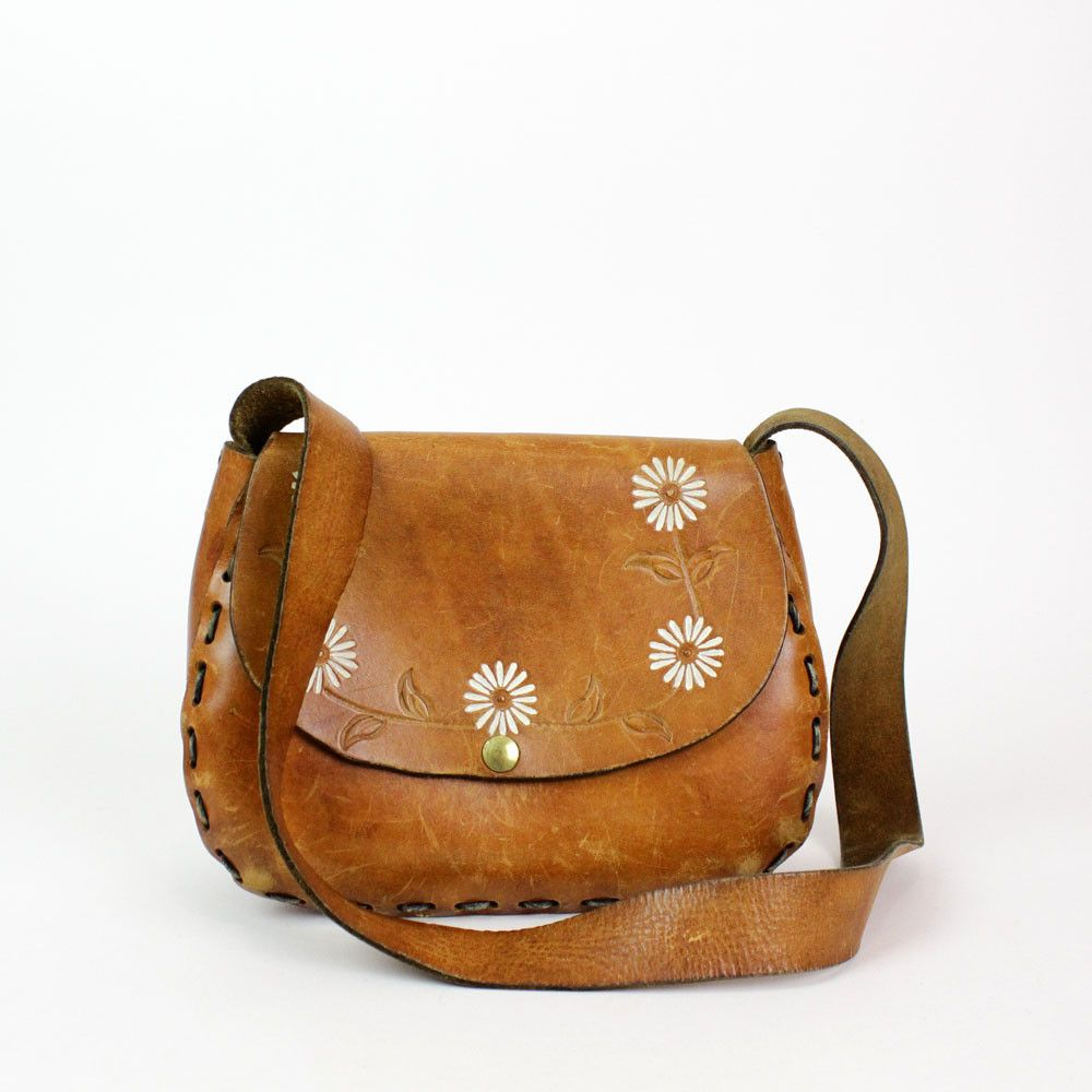 Daisy Chain Tooled Bag