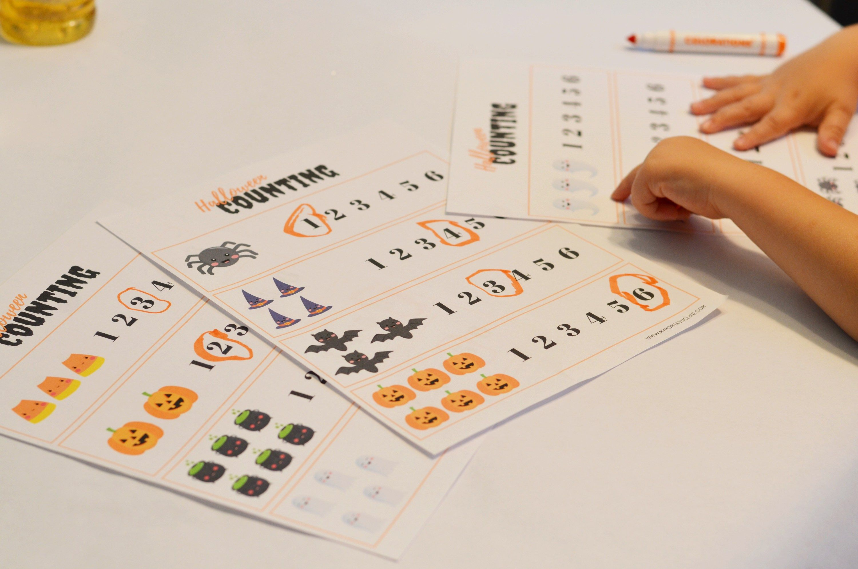 Halloween Counting Worksheets For Preschoolers