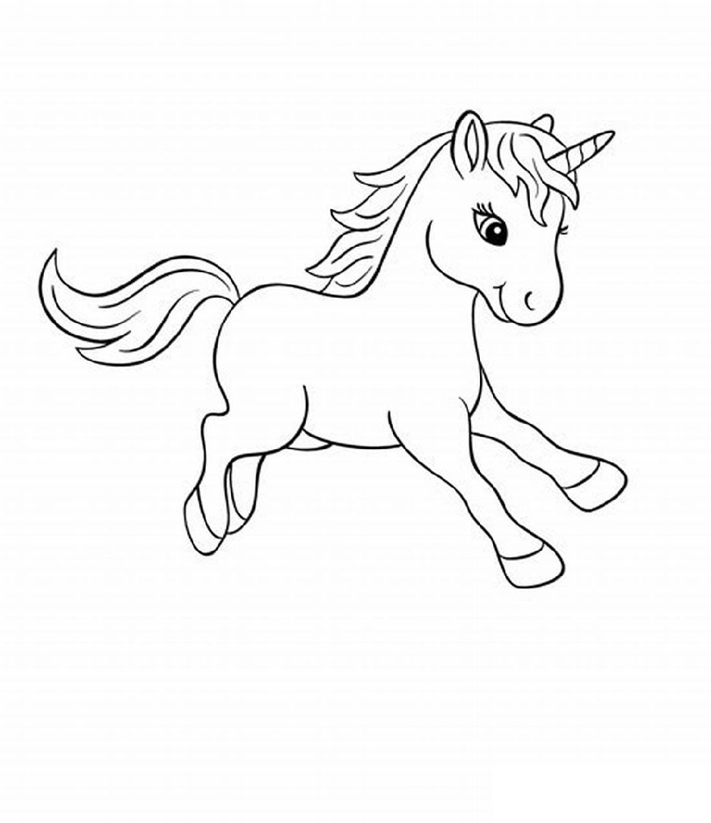Printable Baby Unicorn Coloring Pages  K16 Worksheets  Unicorn