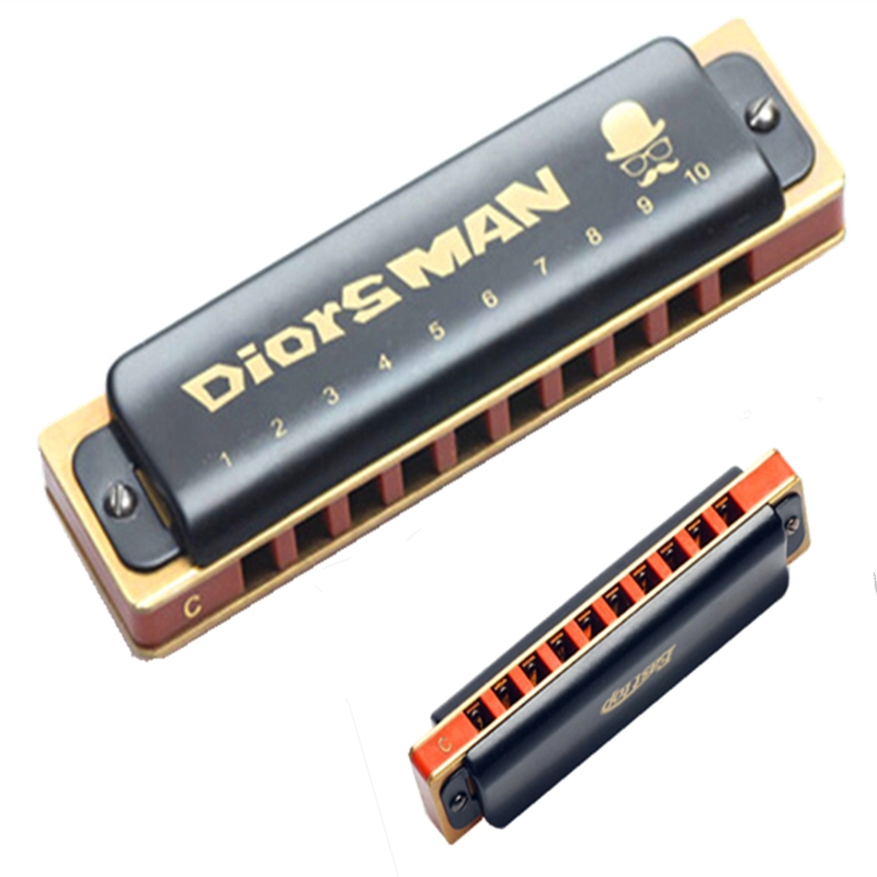 74.94$  Buy now - http://alijeq.worldwells.pw/go.php?t=32782461197 - East top 100*28*18mm 10 bores diatonic harmonica metal chrome-plated copper board mouth organ musical instrument