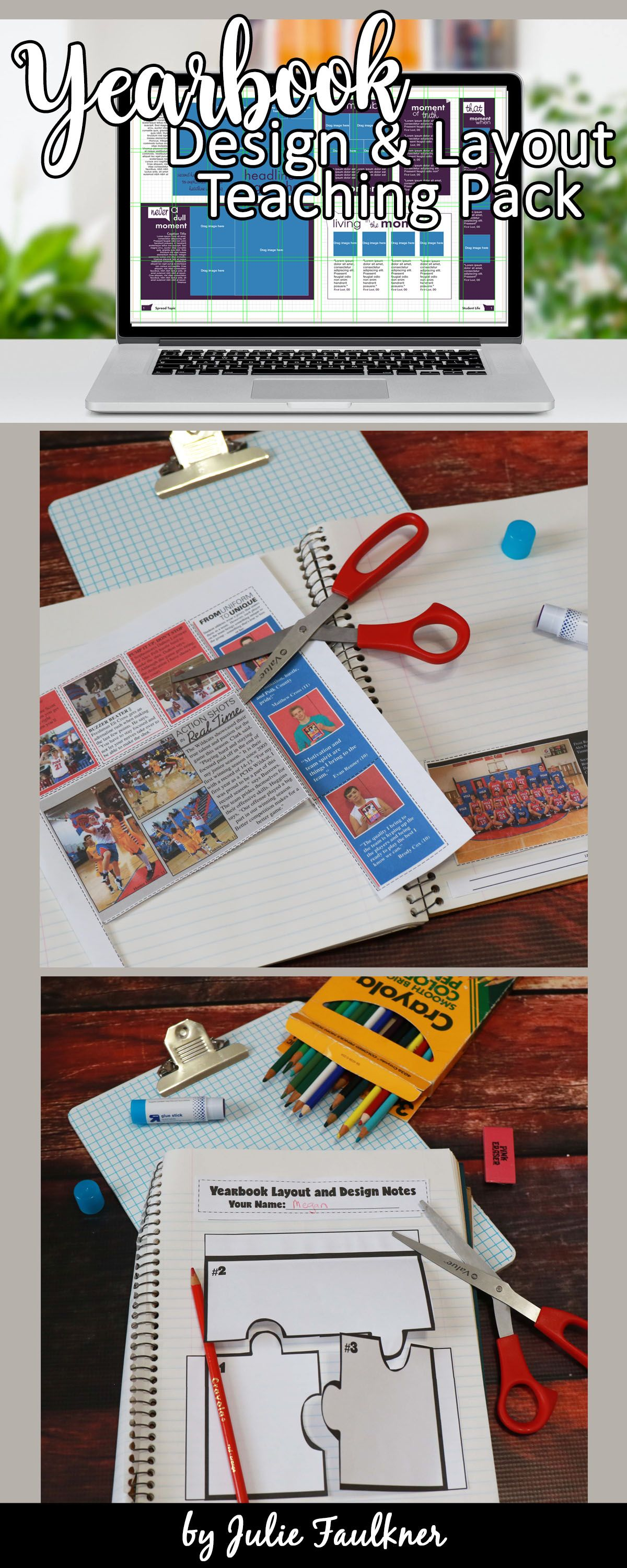 Yearbook layout and design complete teaching pack yearbook pinterest
