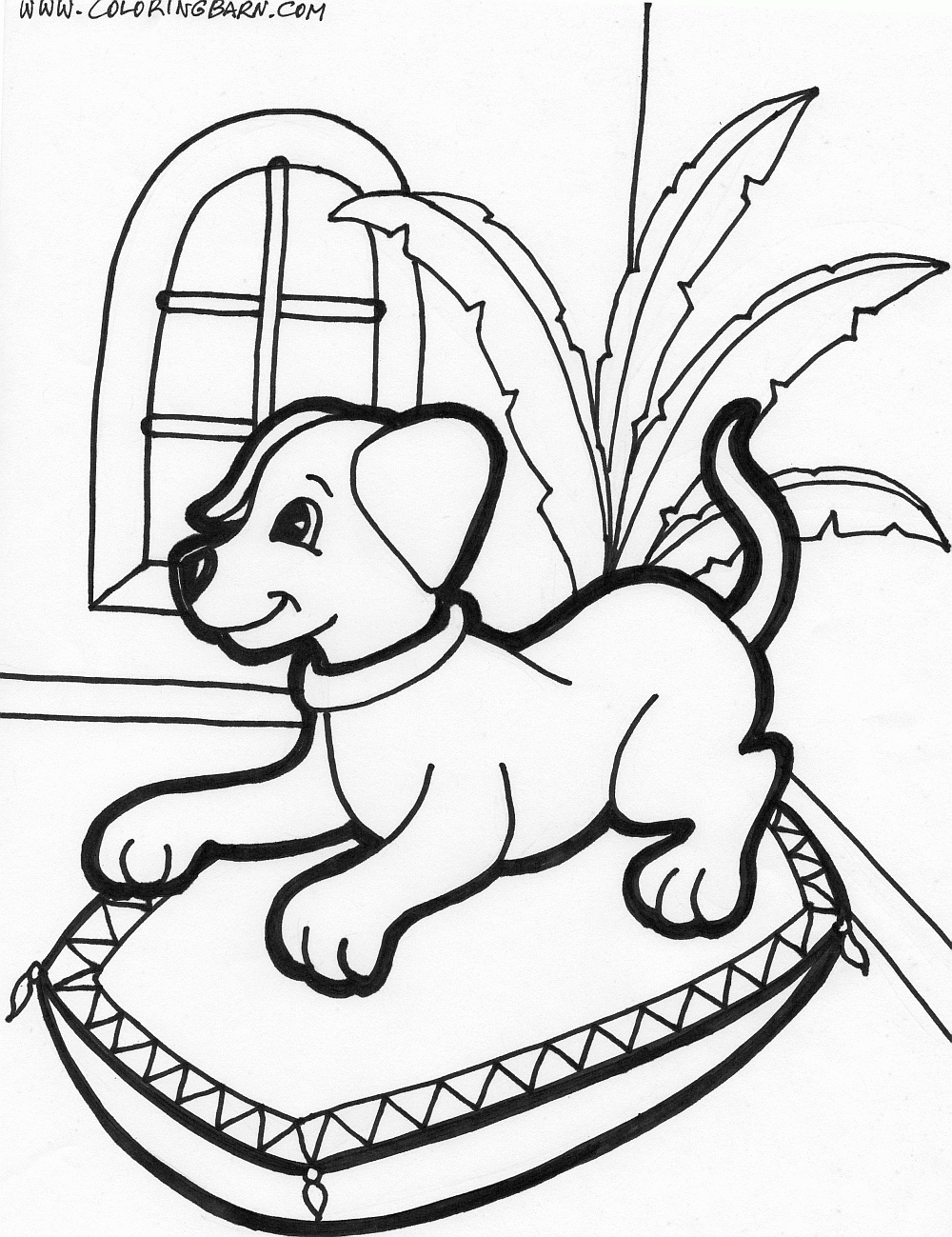 puppy coloring pages to print | puppies inside coloring page | Fun ...