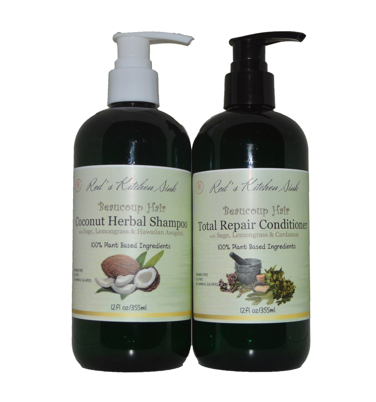 Beaucoup hair total repair shampoo & conditioner set