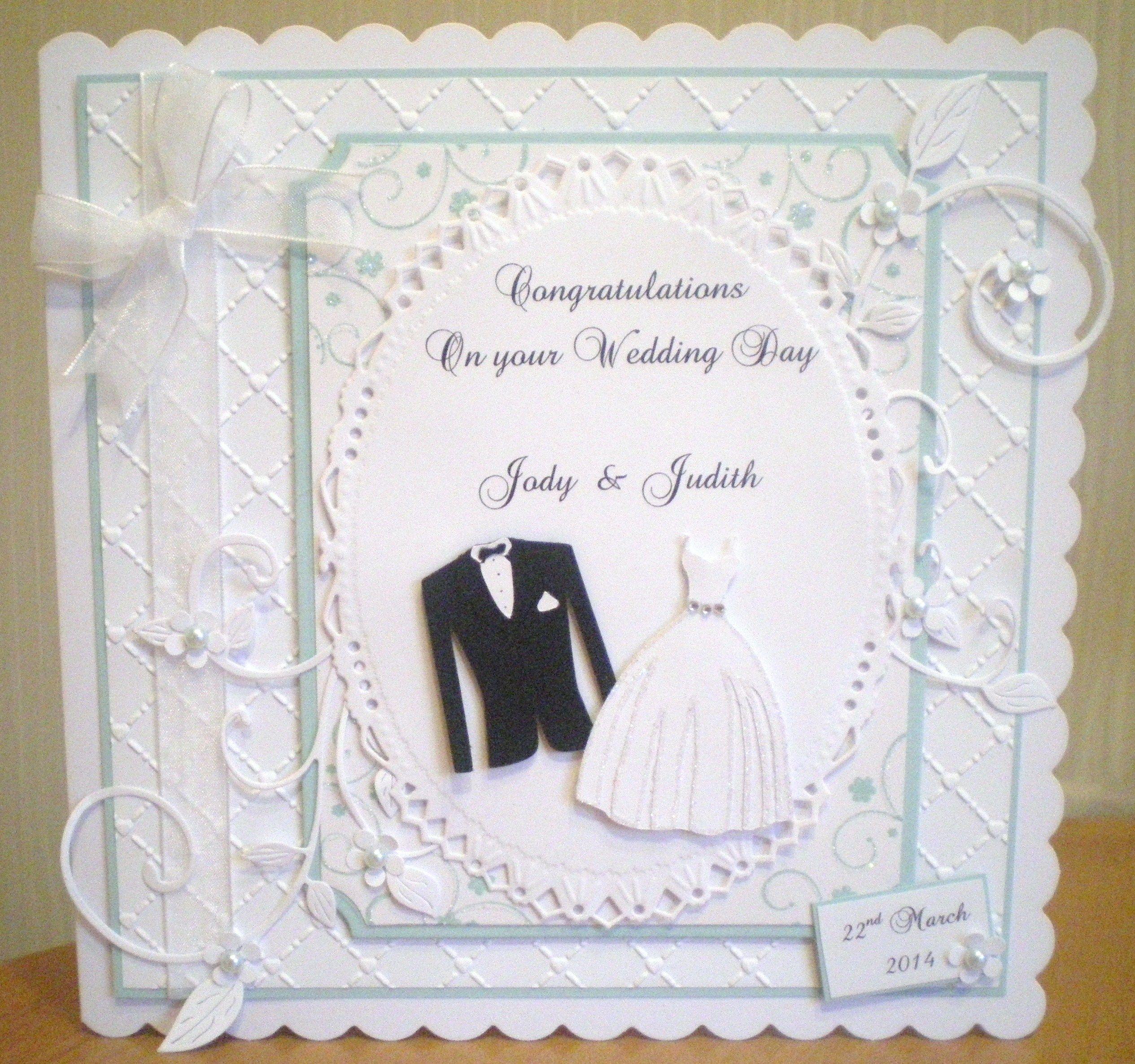 wedding day using spellbinders and cricut  wedding