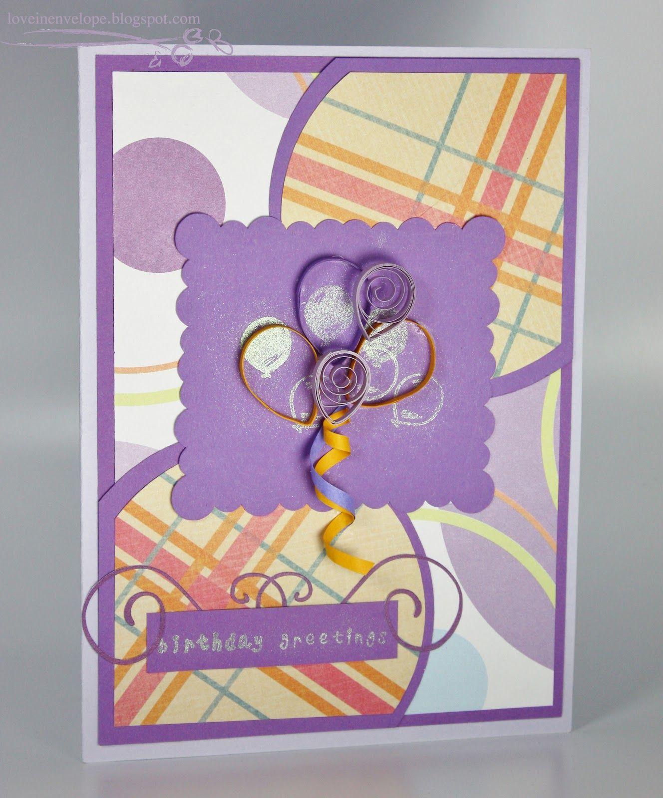 Handmade Card Design Ideas Love In Envelope Birthday Greetings