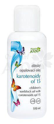 Baby opaľovací olej OF15 s karotenoidmi