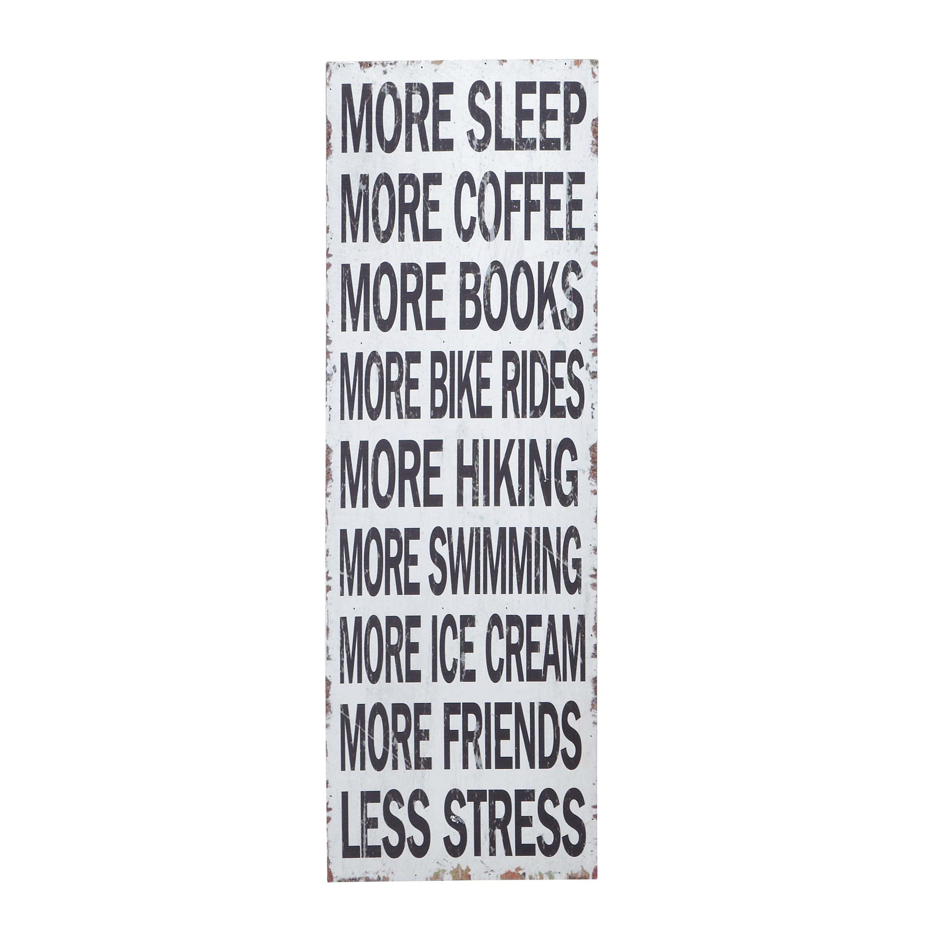 Quotable Quotes About Life Decmode 12W X 36H Inblack And White Wood And Metal Inspirational