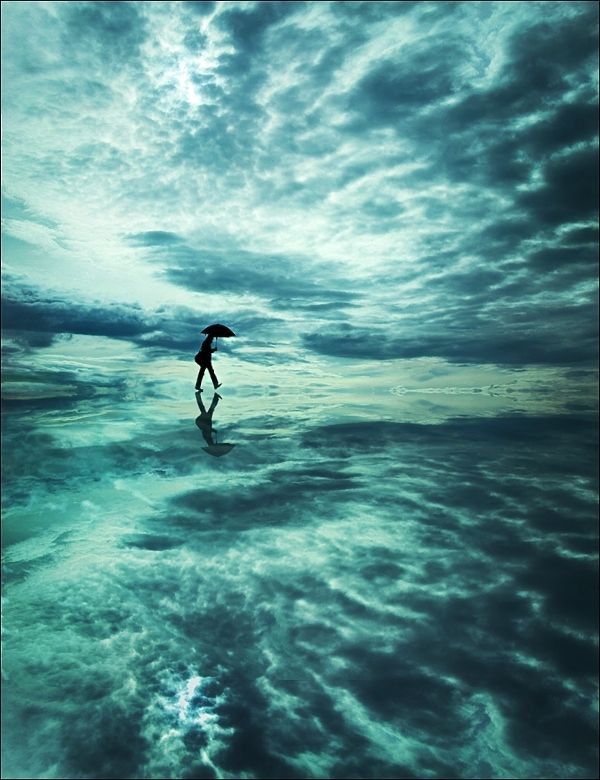Past the clouds and past your eyes by Felicia Simion