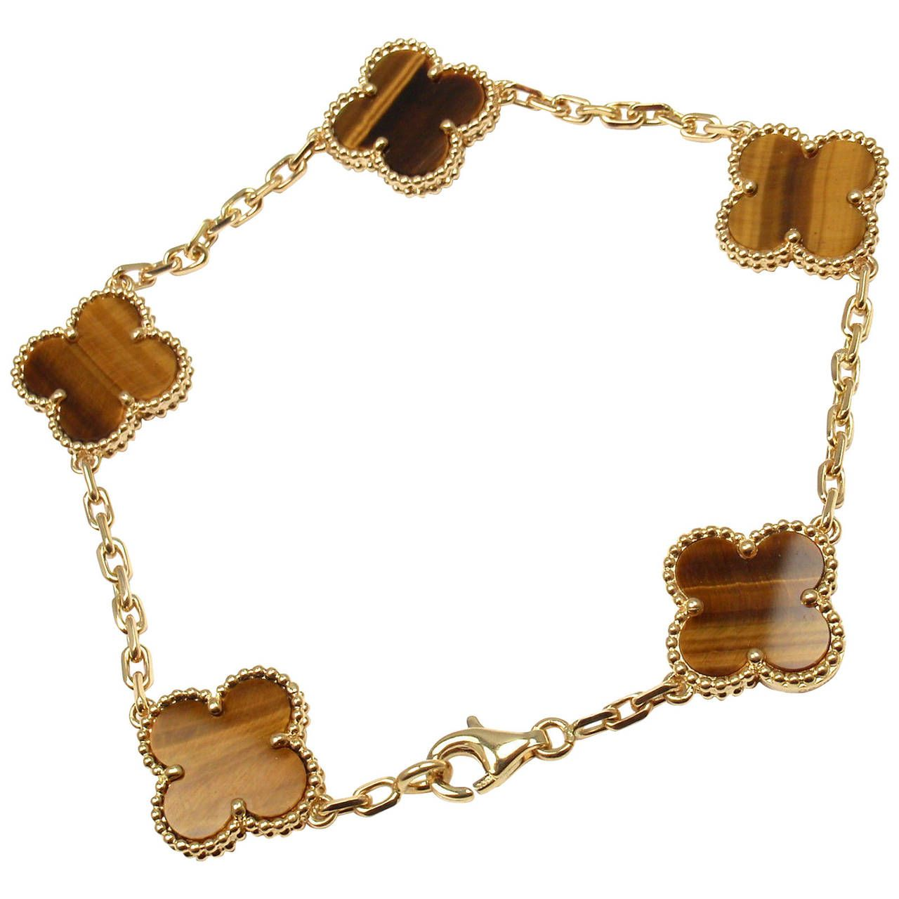 Van cleef vintage jewelry pinterest tiger eye bracelet vans