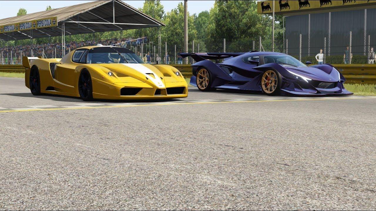 Ferrari FXX vs Apollo Intensa Emozione at Monza Full Course