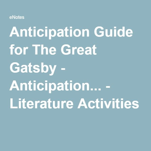 The Great Gatsby - Lesson Plans and Activities