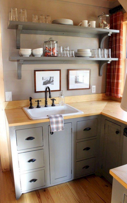 70 Marvelous Tiny House Kitchen Design Ideas Tiny House Kitchen Kitchen Remodel Small Small Kitchenette
