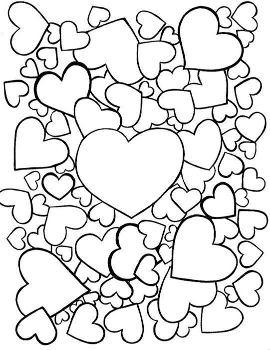 Joyfuldia coloring 10 mary 39 s coloring book valentines - Coloriage de coeurs ...