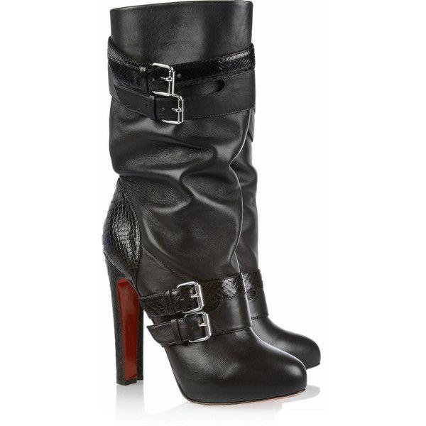 Christian Louboutin Leather Buckled Boots m6bUdmN