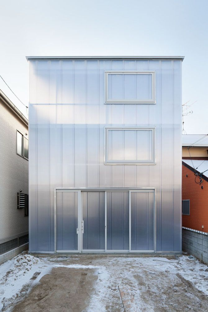 Architectural Translucent Panels : Translucent architecture the house of tousuien is located