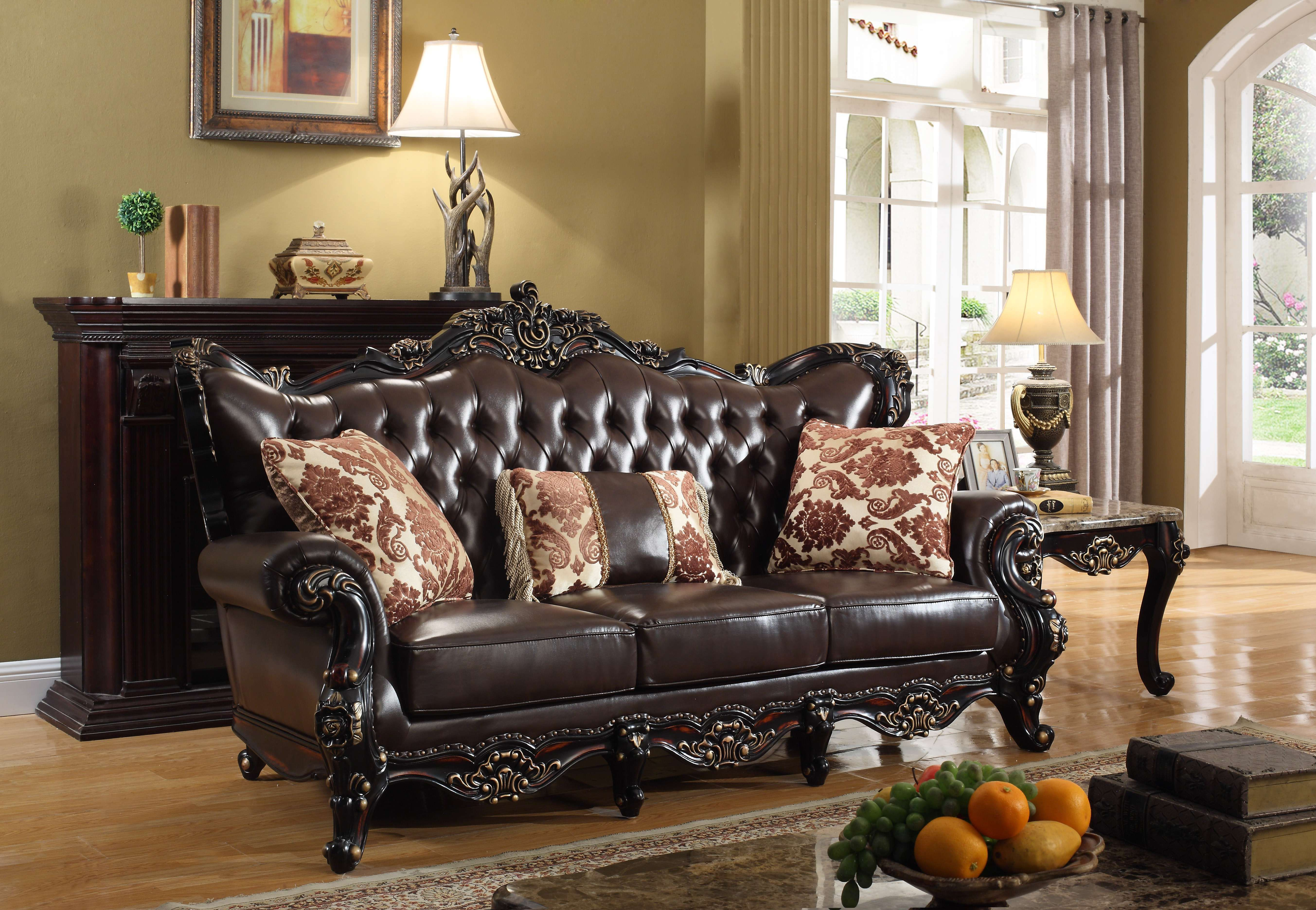 Lowest Price On Meridian Barcelona Brown Leather Sofa 675 S Shop