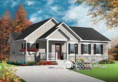 W3131-V1 - Cozy and affordable single storey home, craftsman style on large contemporary home designs, large traditional home designs, large cape cod home plans, large cabin homes,