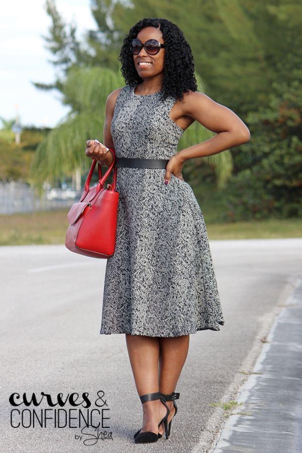 920dee7b374 Zara Tweed Print Dress