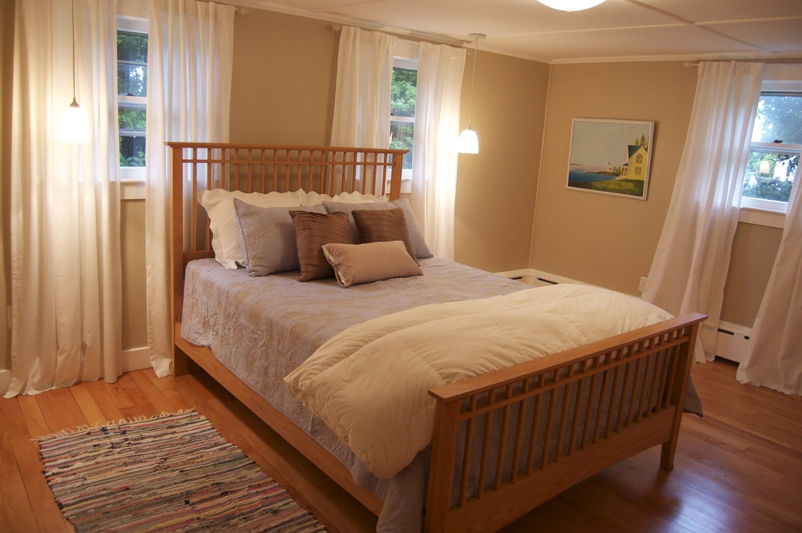 7 Ft Ceilings Long Drapes Bedroom Makeover Master Bedroom Makeover Cottage Bedroom