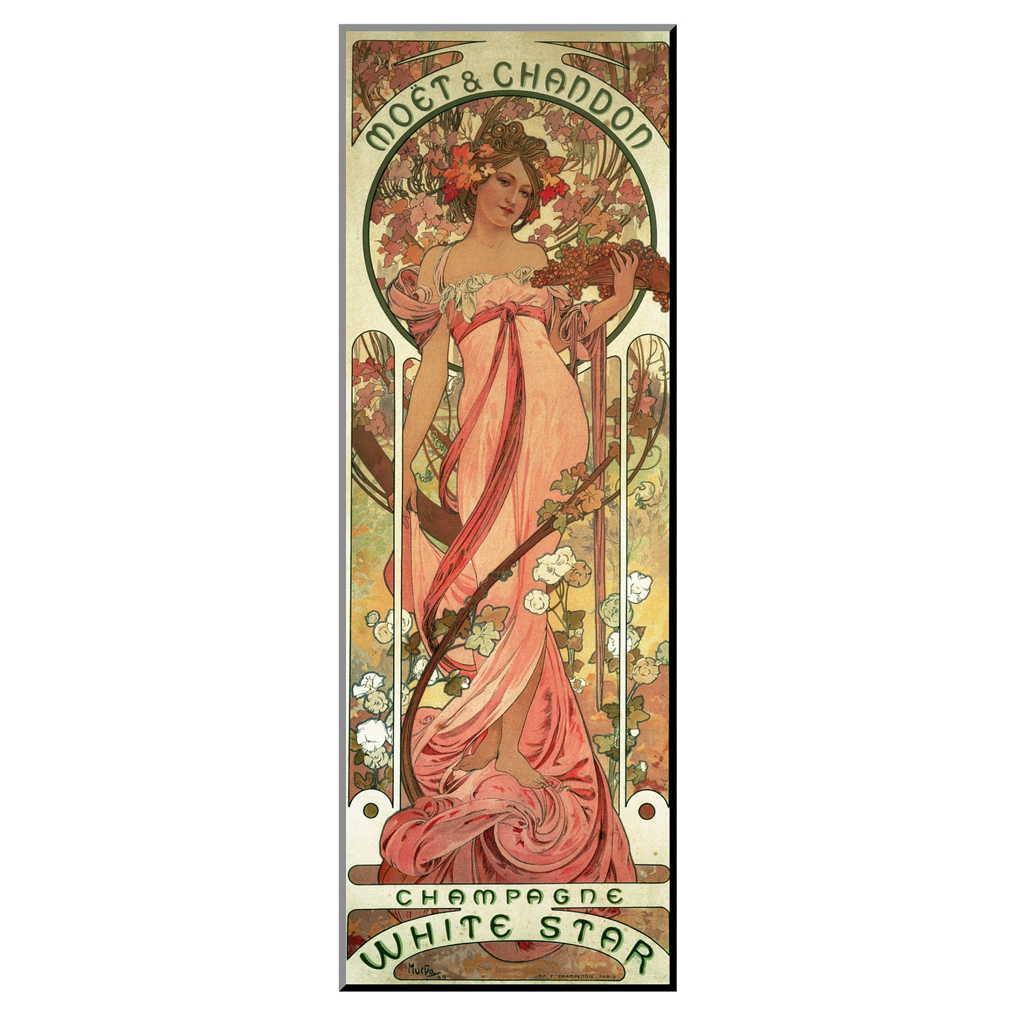 "Mucha Alphonse Spring  c.1900-20/""x48/"" CANVAS ART Alfons"