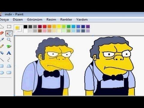 MS Paint, The Simpsons Moe Szyslak - YouTube | Moe Syzslak