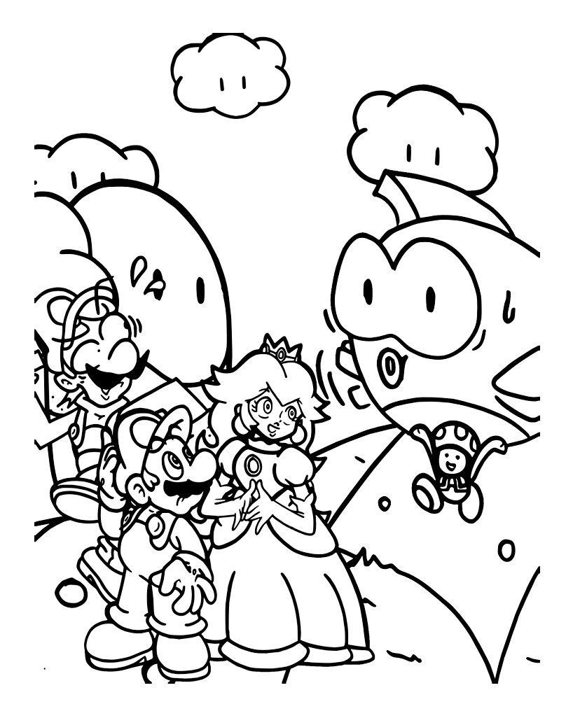 15 Luxe De Dessin Personnage Mario Galerie En 2020 Coloriage Coloriage Enfant Coloriage Mario
