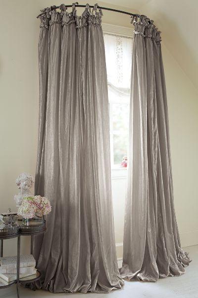 Romantic Bedroom Curtains: Country Bedroom Design, Romantic