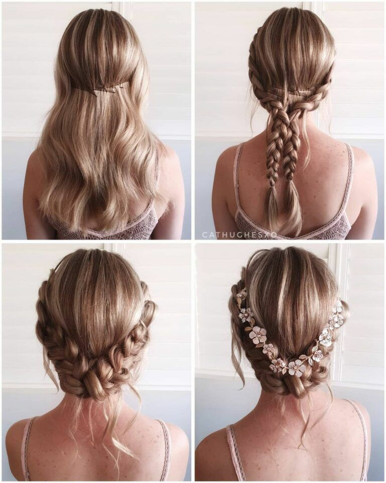 Wedding Hairstyles Updo - Step by Step - Skincare