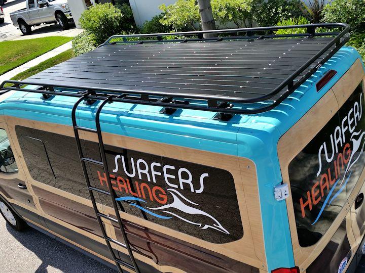 Ford Transit Aluminess Roof Rack With Tight Slats Ford Transit Canoe Rack Custom Vans