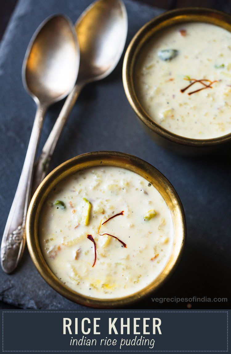 Rice Kheer Recipe With Step By Step Photos A Favorite Indian Dessert Made With Basmati Rice Milk Nuts And Saffron R Rice Kheer Kheer Recipe Indian Desserts