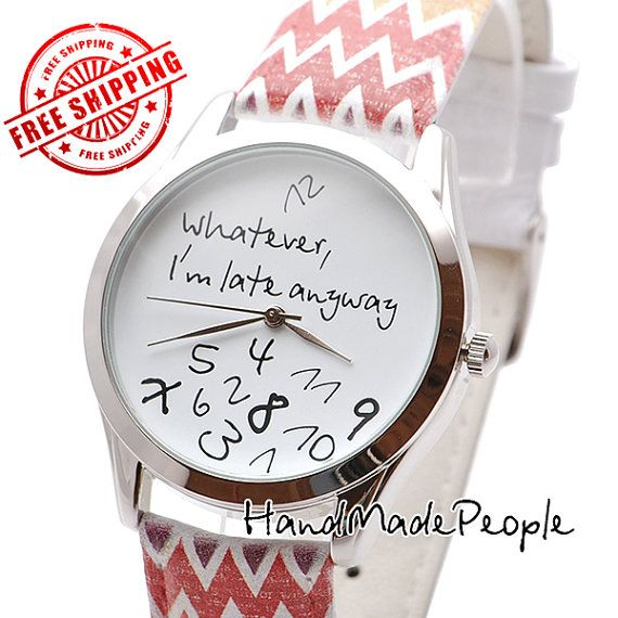 Funny Watch | Whatever, I'm Late Anyway Watch | Men's Watch | Women Watches | Gift For Her | Anniversary Gifts for Boyfriend #sweetestdaygiftsforboyfriend